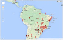 Website Visitors - South America
