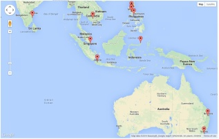 Website Visitors - South Pacific
